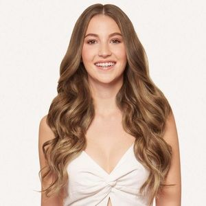 "Luxy hair seamless Chestnut brown 20"" balayage"